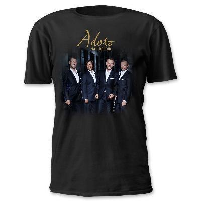 Adoro Tourshirt Herren T-Shirt schwarz