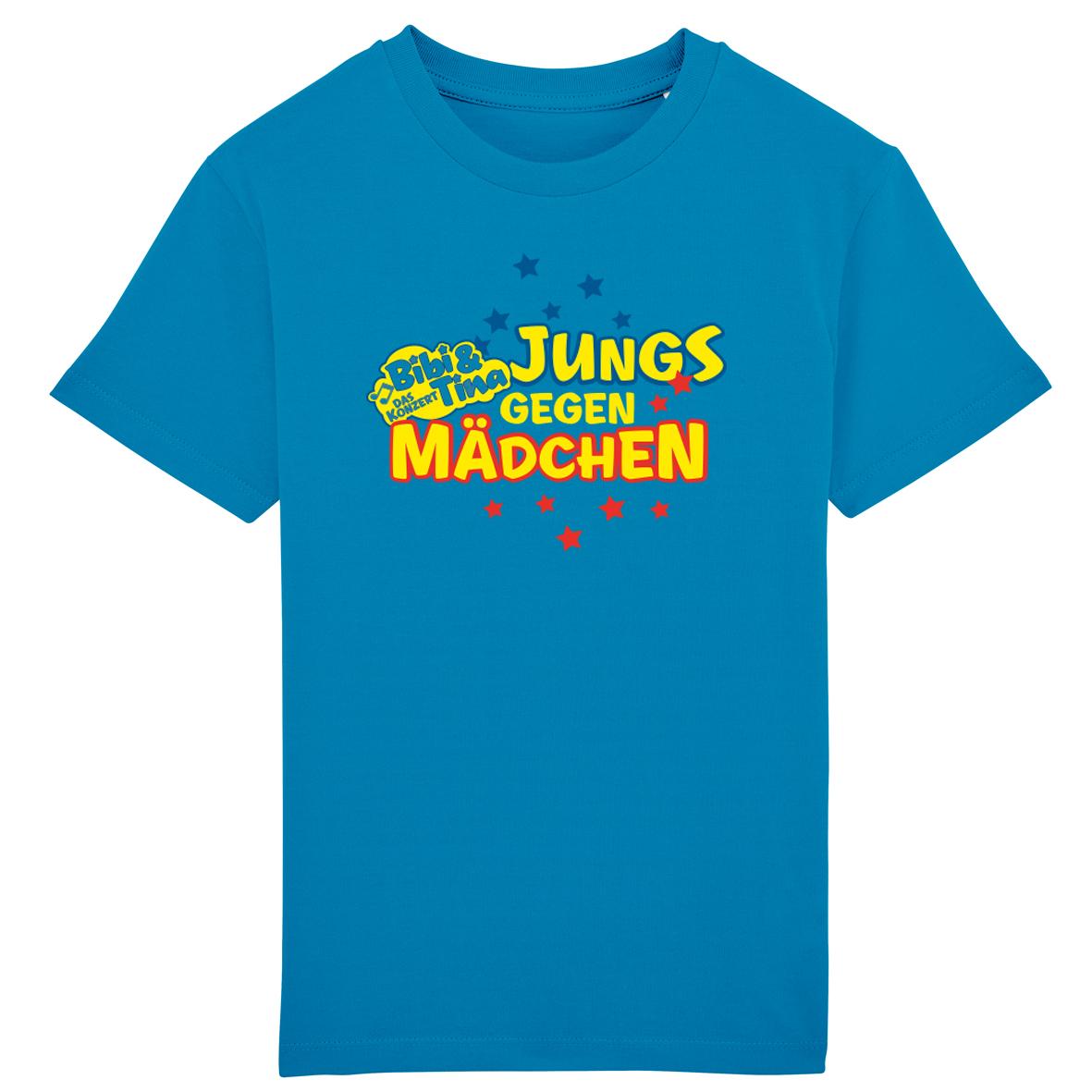 Bibi&Tina Jungs gegen Mädchen Shirt Kids T-Shirt, azur