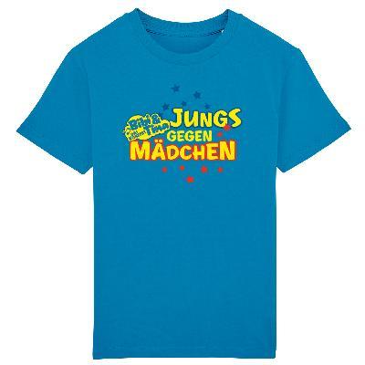 Bibi&Tina Jungs gegen Mädchen Shirt Kinder T-Shirt azur