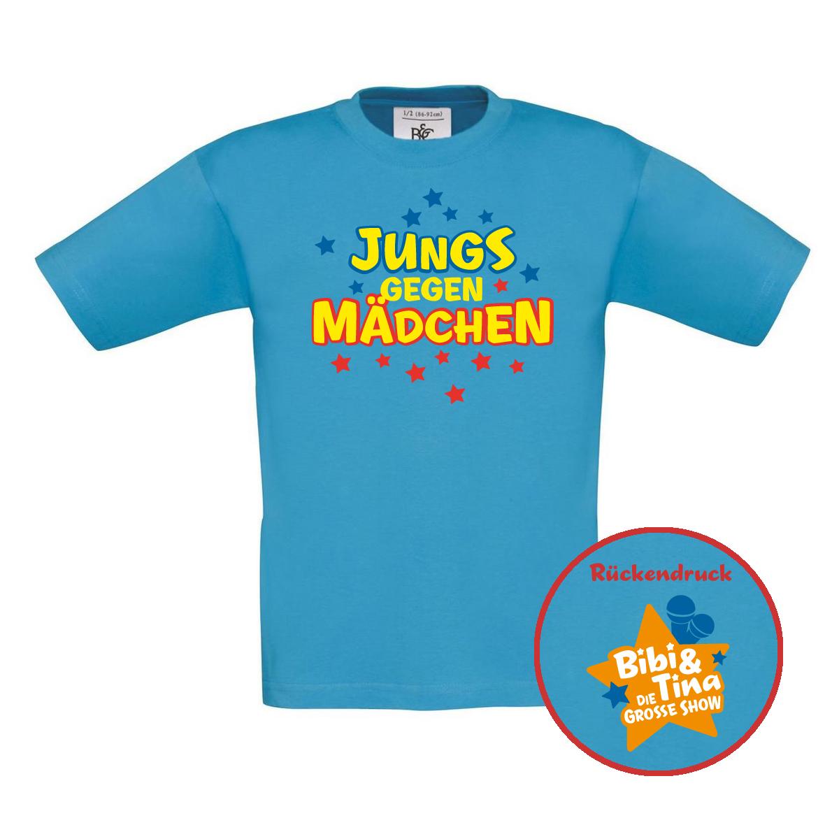 Bibi&Tina Jungs gegen Mädchen Kids Shirt Kids türkis
