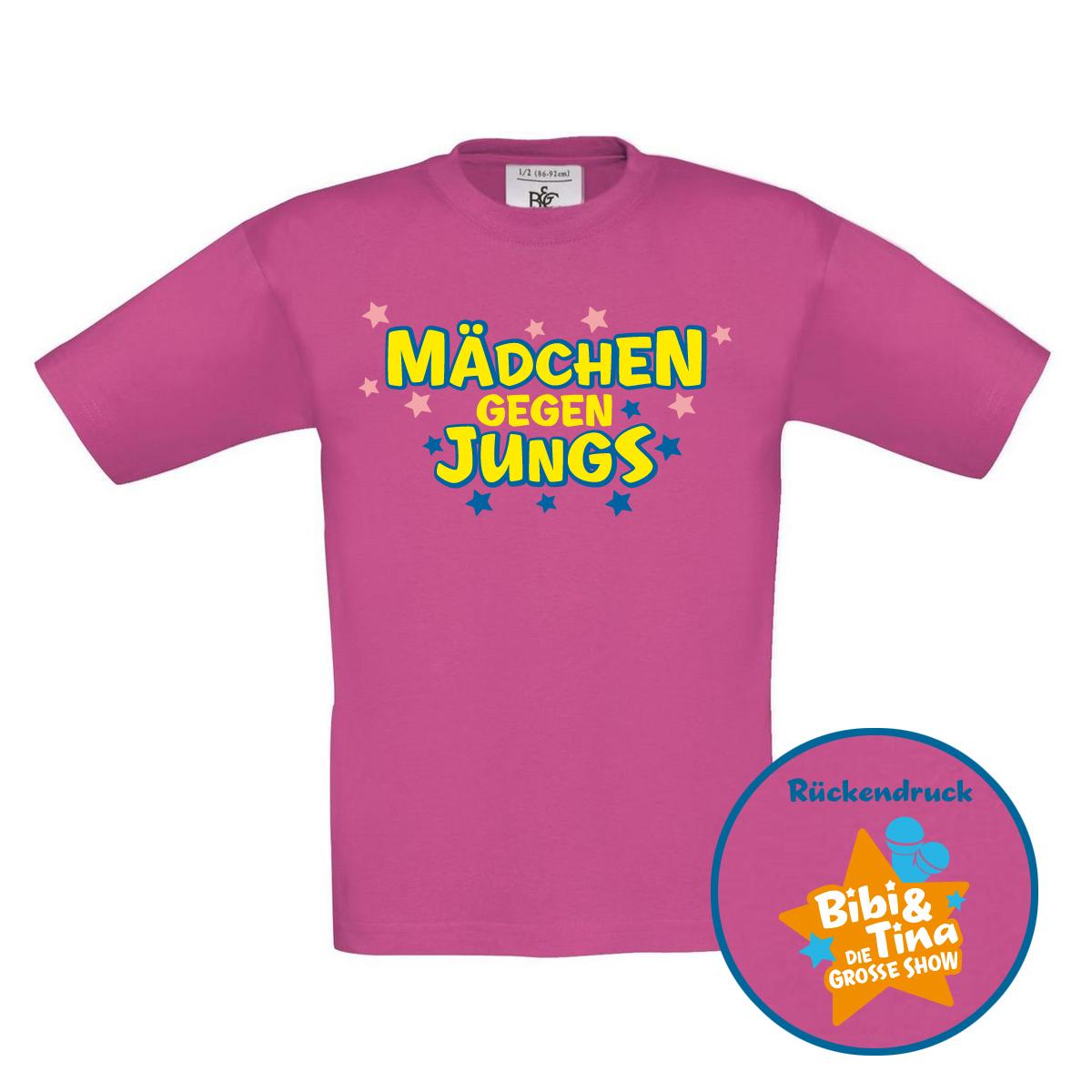 Bibi&Tina Mädchen gegen Jungs Kids Shirt Kids pink