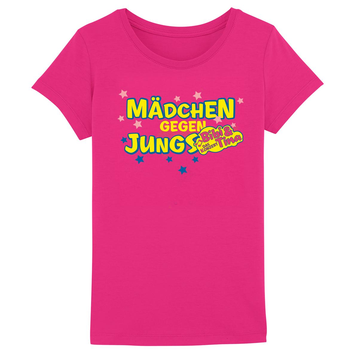 Bibi&Tina Mädchen gegen Jungs Kinder T-Shirt, rosa