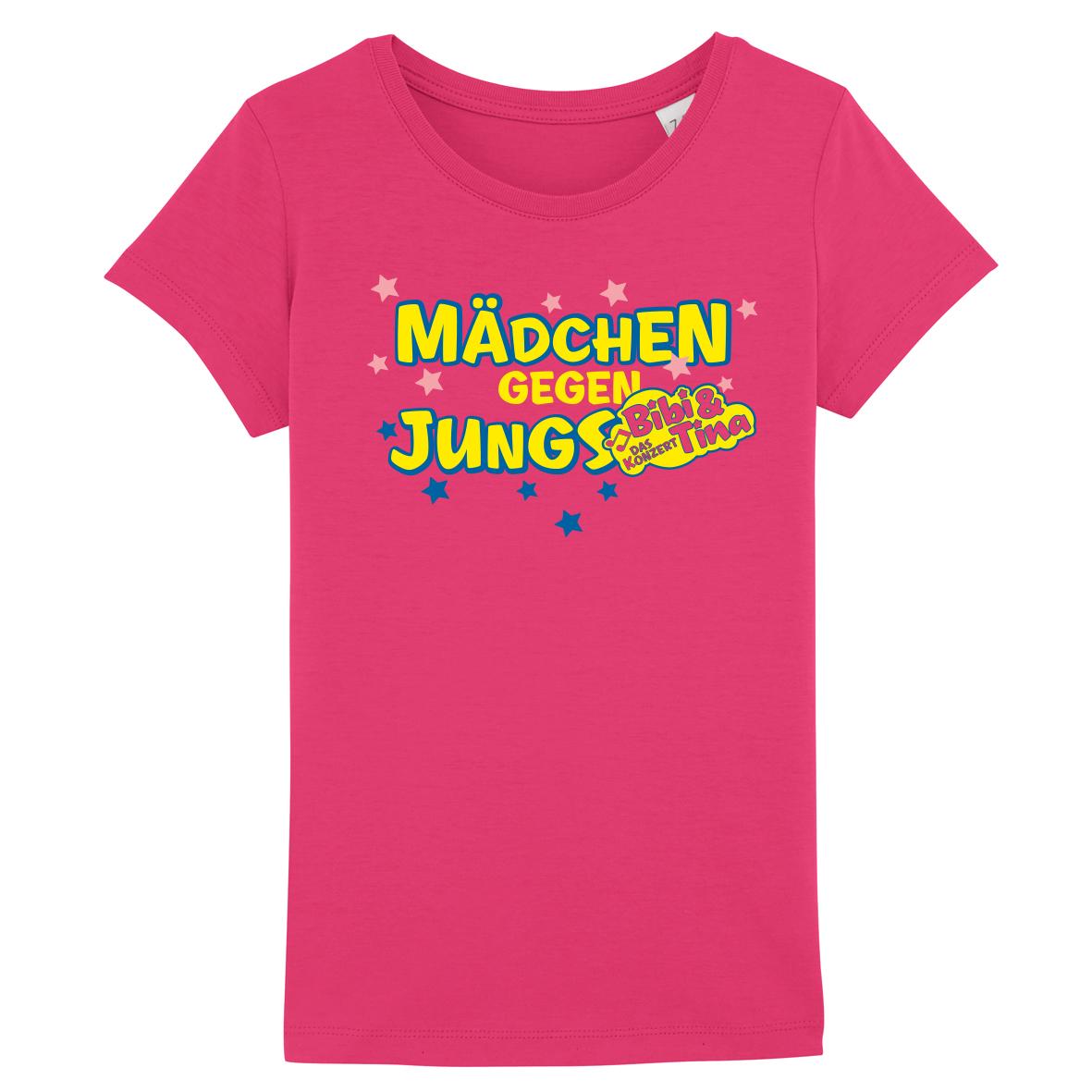 Bibi&Tina Mädchen gegen Jungs Shirt Kinder T-Shirt pink/raspberry