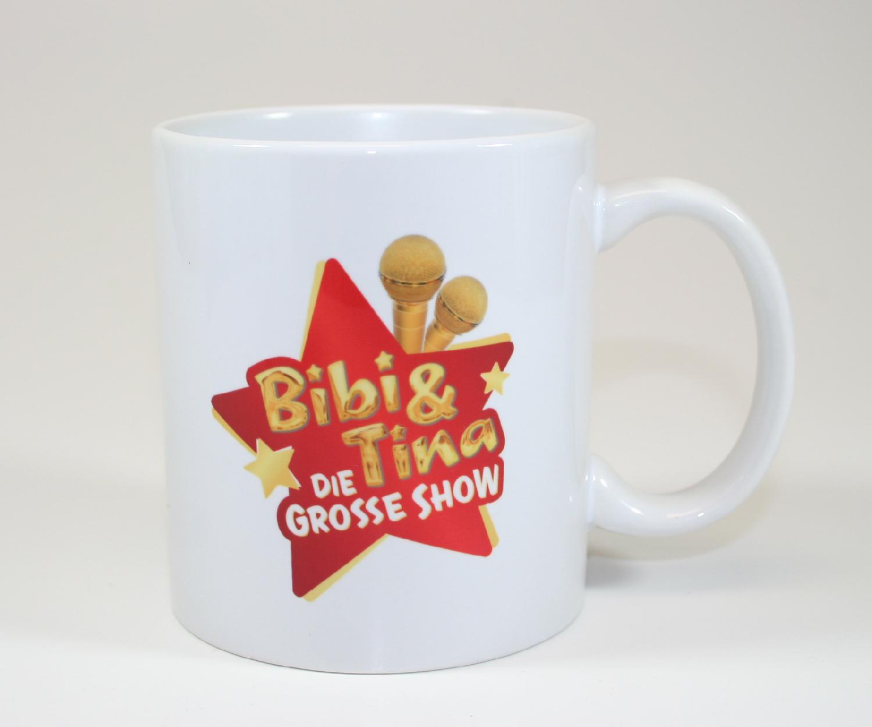 Bibi&Tina Tasse - Die große Show Tasse weiß