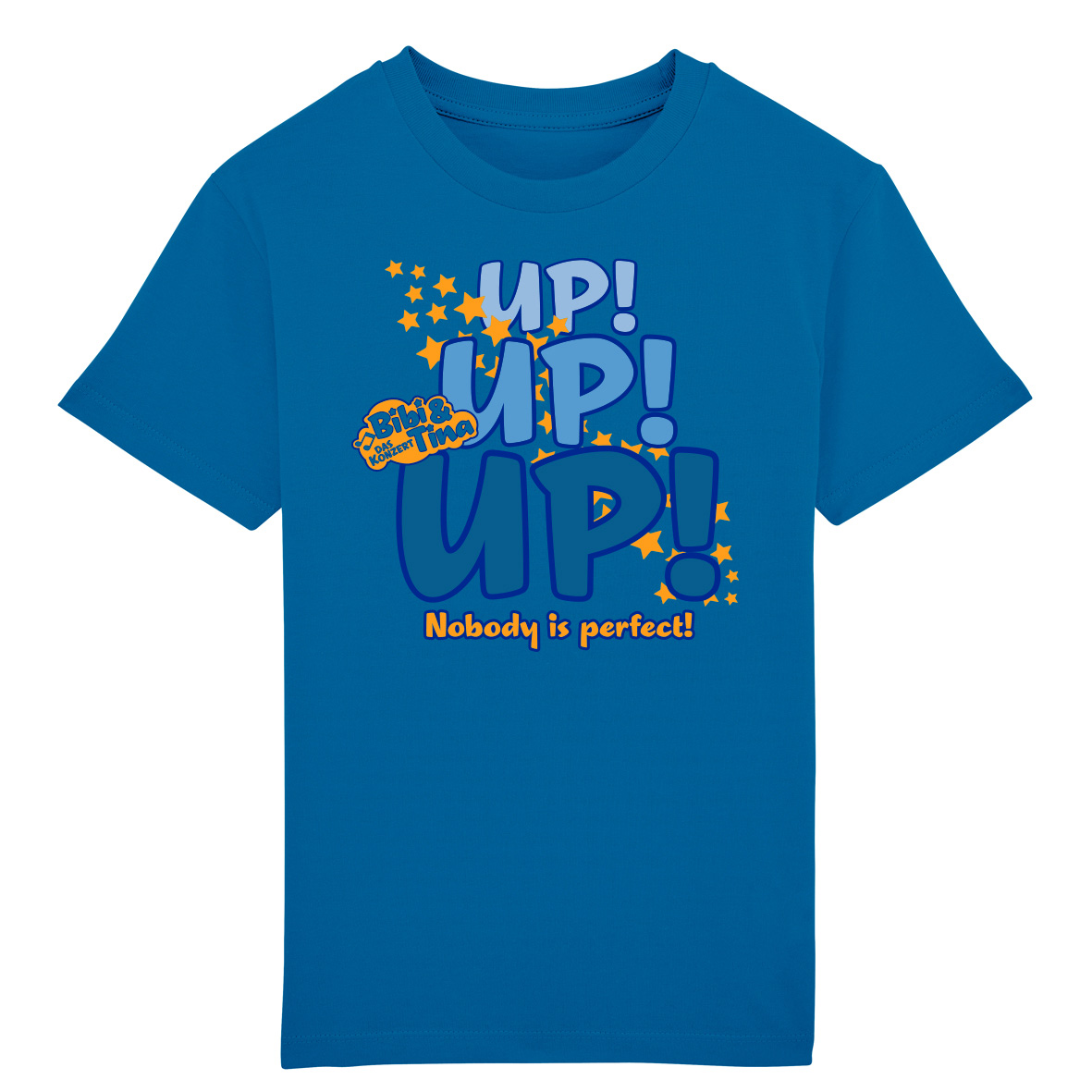 Bibi&Tina UP! UP! UP! Nobody is Perfect! Kids T-Shirt, azur
