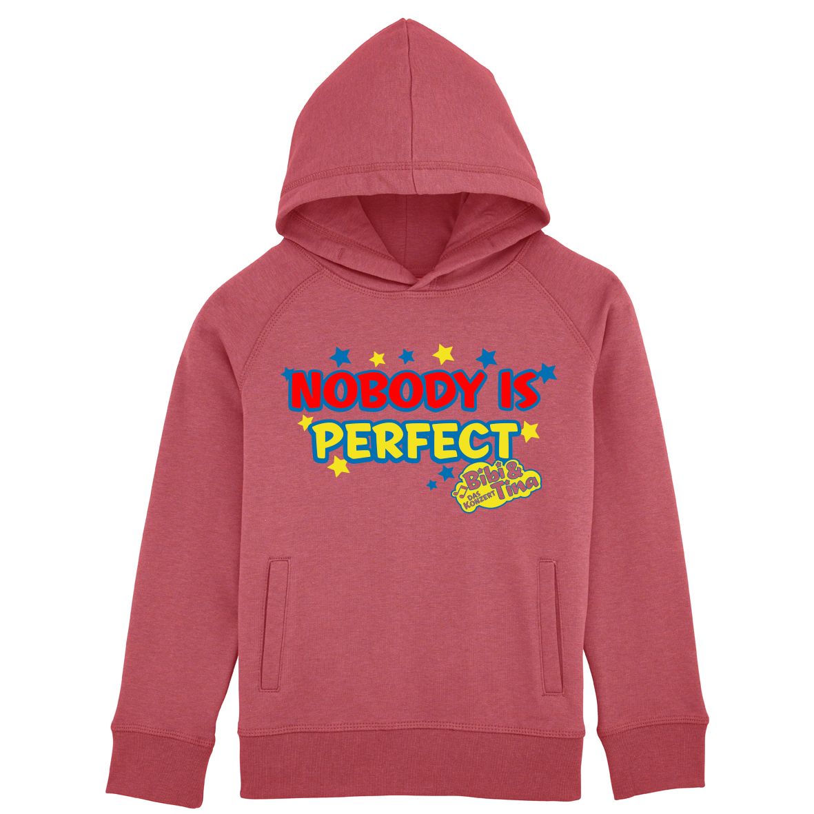 Bibi&Tina Nobody is perfect! Hoodie S Kapuzenpullover, heather cranberry