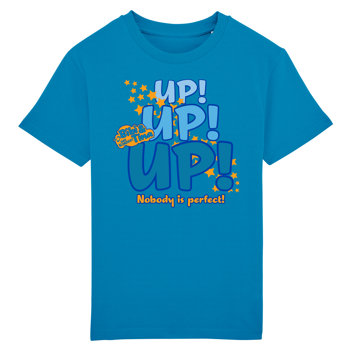 Bibi&Tina Up! Up! Up! Nobody is perfect! Shirt Kinder T-Shirt, azur