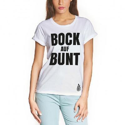 Culcha Candela Bock auf Bunt T-Shirt weiß