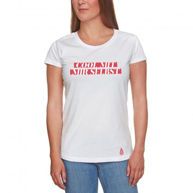 Culcha Candela Cool mit mir selbst T-Shirt, weiß