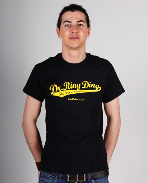 Dr. Ring Ding Baseball T-Shirt schwarz