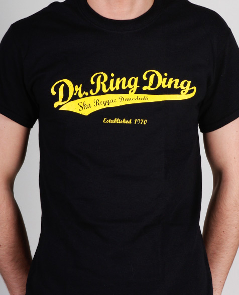 Dr. Ring Ding Baseball T-Shirt black
