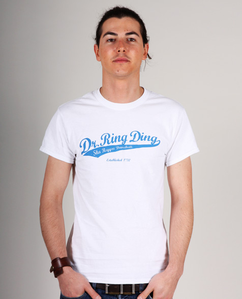 Dr. Ring Ding Baseball T-Shirt weiß