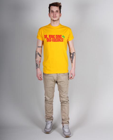 Dr. Ring Ding Ska-Vaganza Tour T-Shirt gelb