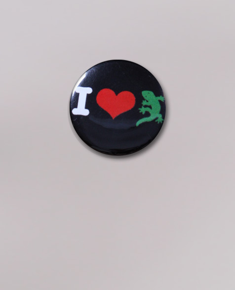 Dr. Ring Ding I Love Gecko Rex Button black