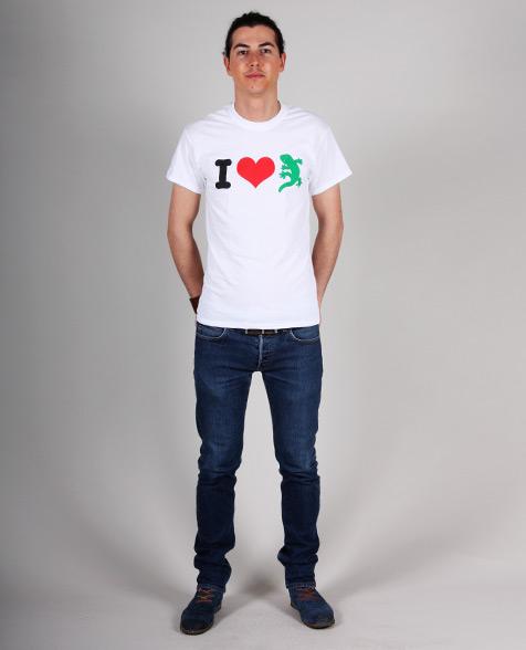 Dr. Ring Ding I Love Gecko Rex T-Shirt white