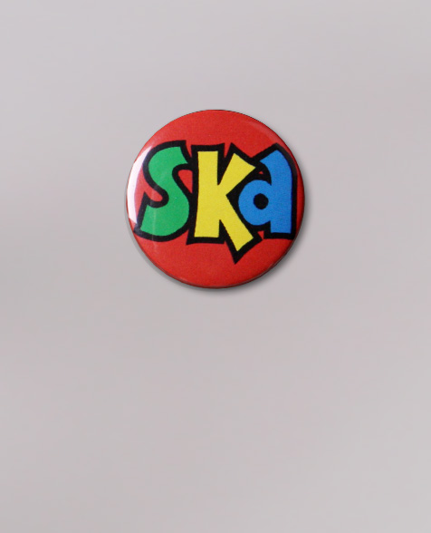 Dr. Ring Ding Ska Button red