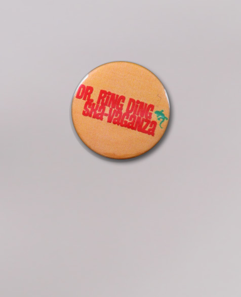 Dr. Ring Ding Ska-Vaganza Button yellow
