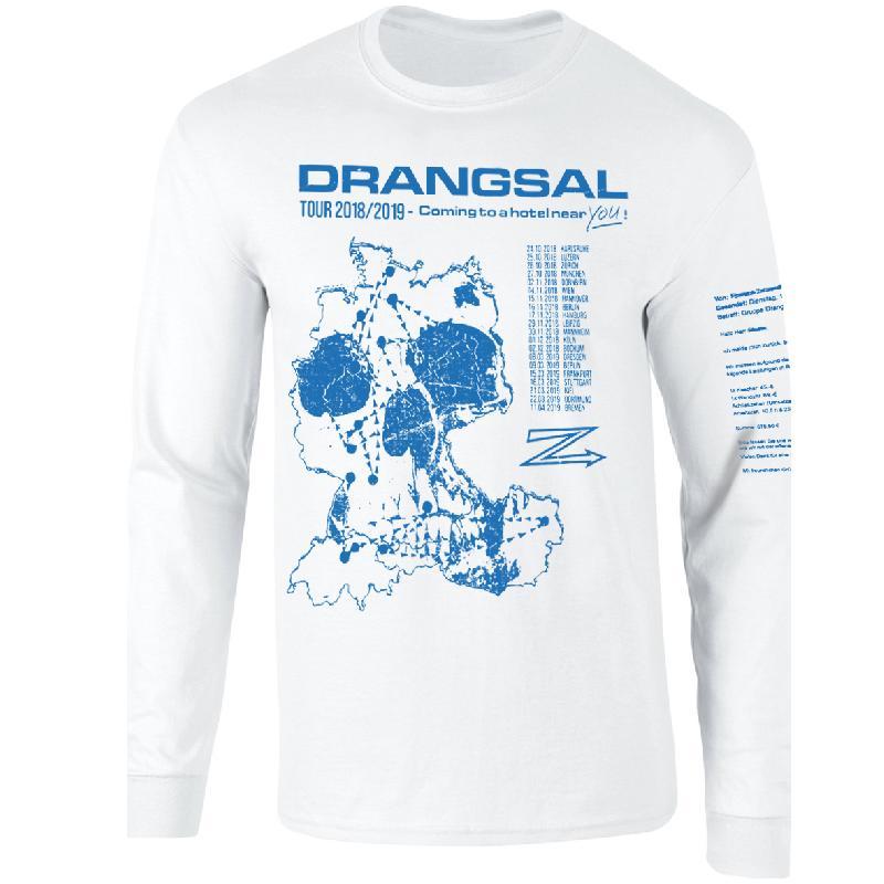 Drangsal Ltd. Hotel Longsleeve - SOLD OUT Longsleeve, Blue/White