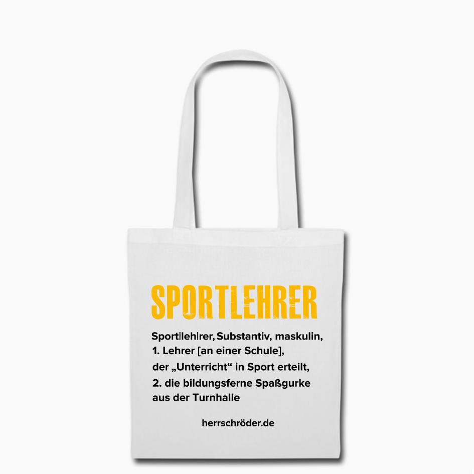 Herr Schröder Sportlehrer Beutel Tasche