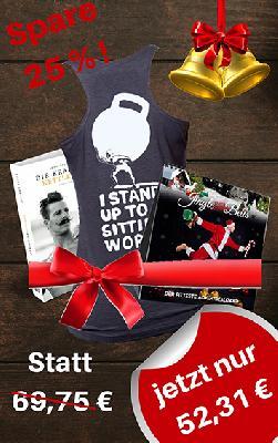 Johannes Kwella Bundle Adventskalender + Buch + Damen-Shirt (Stand Up) Bundle
