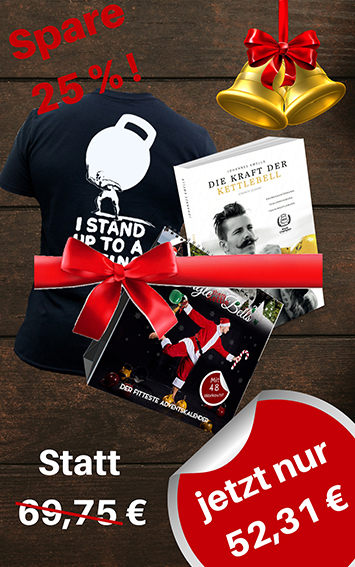 Johannes Kwella Bundle Adventskalender + Buch + Herren-Shirt (Stand Up) Bundle