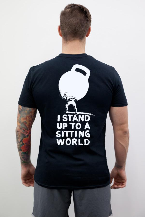 Johannes Kwella Stand Up Herren T-Shirt, schwarz