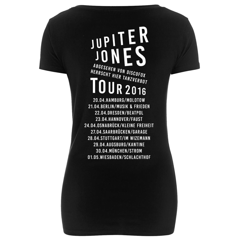 Jupiter Jones Cobra Tourshirt Girl Girlie schwarz
