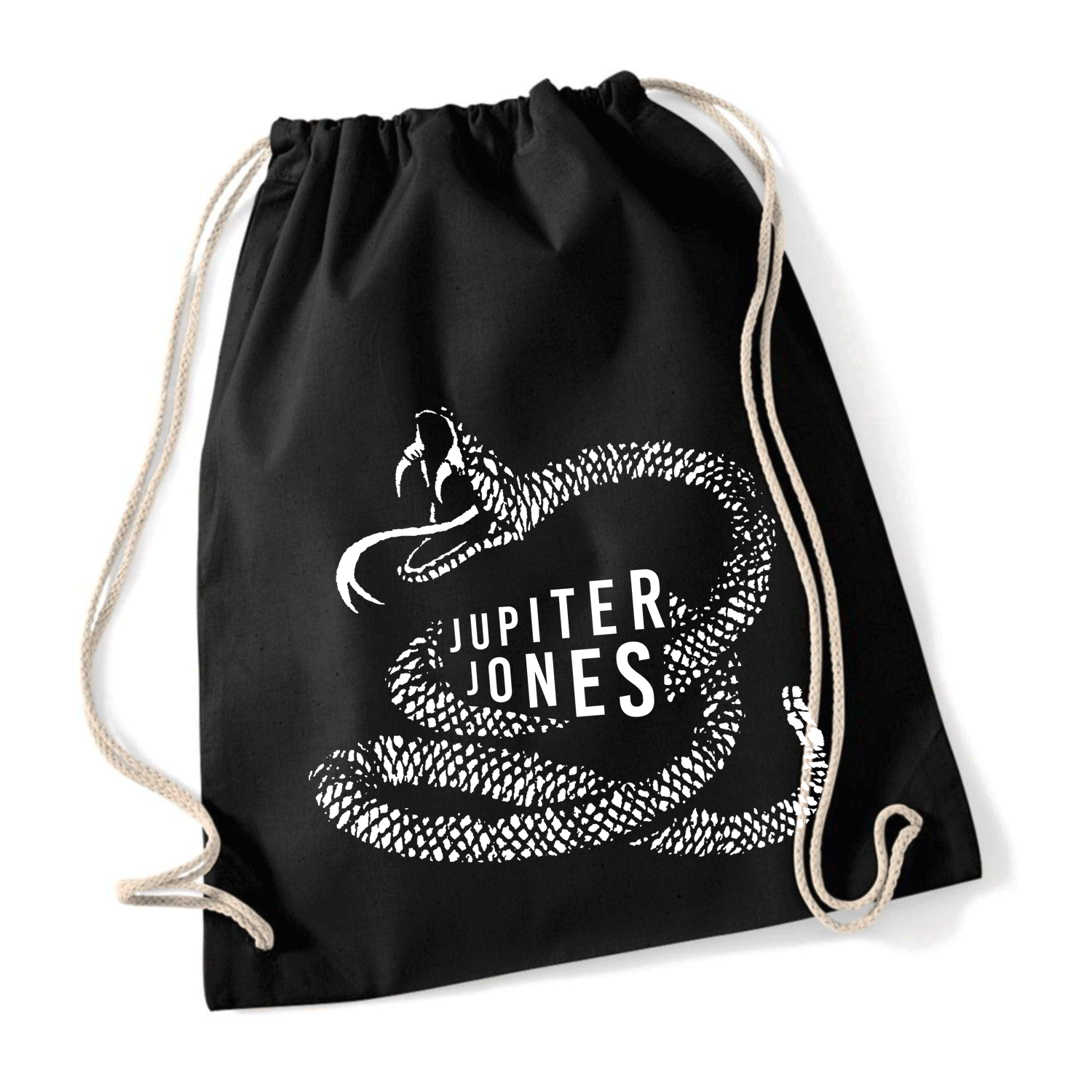 Jupiter Jones Cobra Turnbeutel Bag schwarz