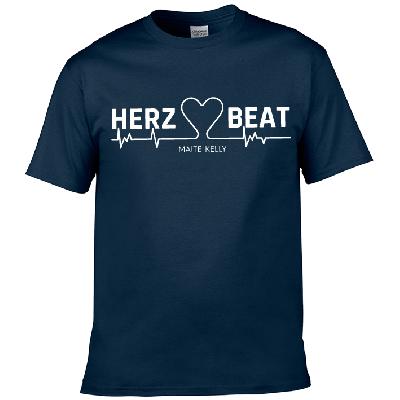Maite Kelly Herz Beat Herren T-Shirt navy-blau