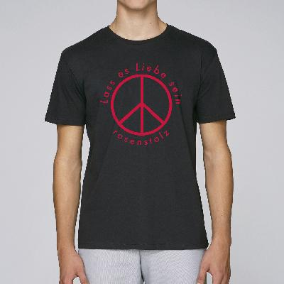 Rosenstolz Lass es Liebe sein Shirt Herren Shirt schwarz