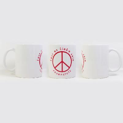 Rosenstolz Lass es Liebe sein Tasse Cup weiß