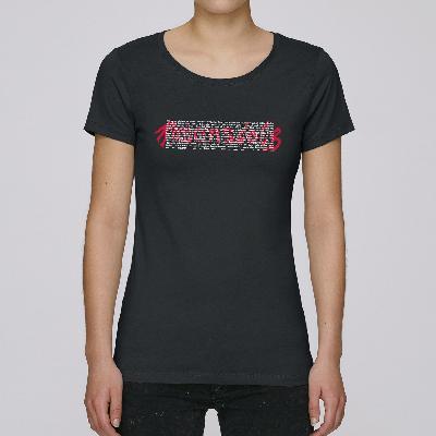 Rosenstolz Retro Shirt Damen Girlie schwarz