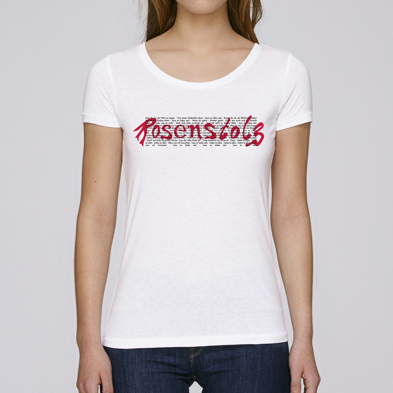 Rosenstolz Retro Shirt Damen Girlie weiß