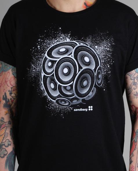 Sandberg Lautsprecher T-Shirt black