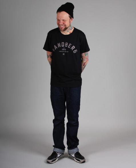 Sandberg Schriftzug T-Shirt black