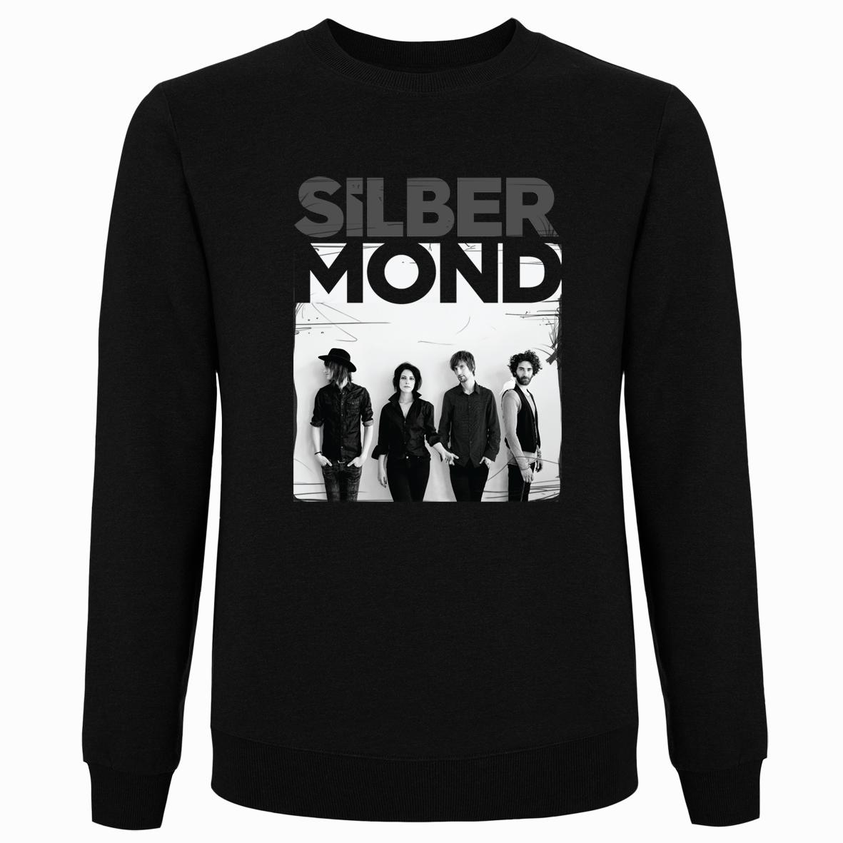 Silbermond Foto Pullover Pullover schwarz