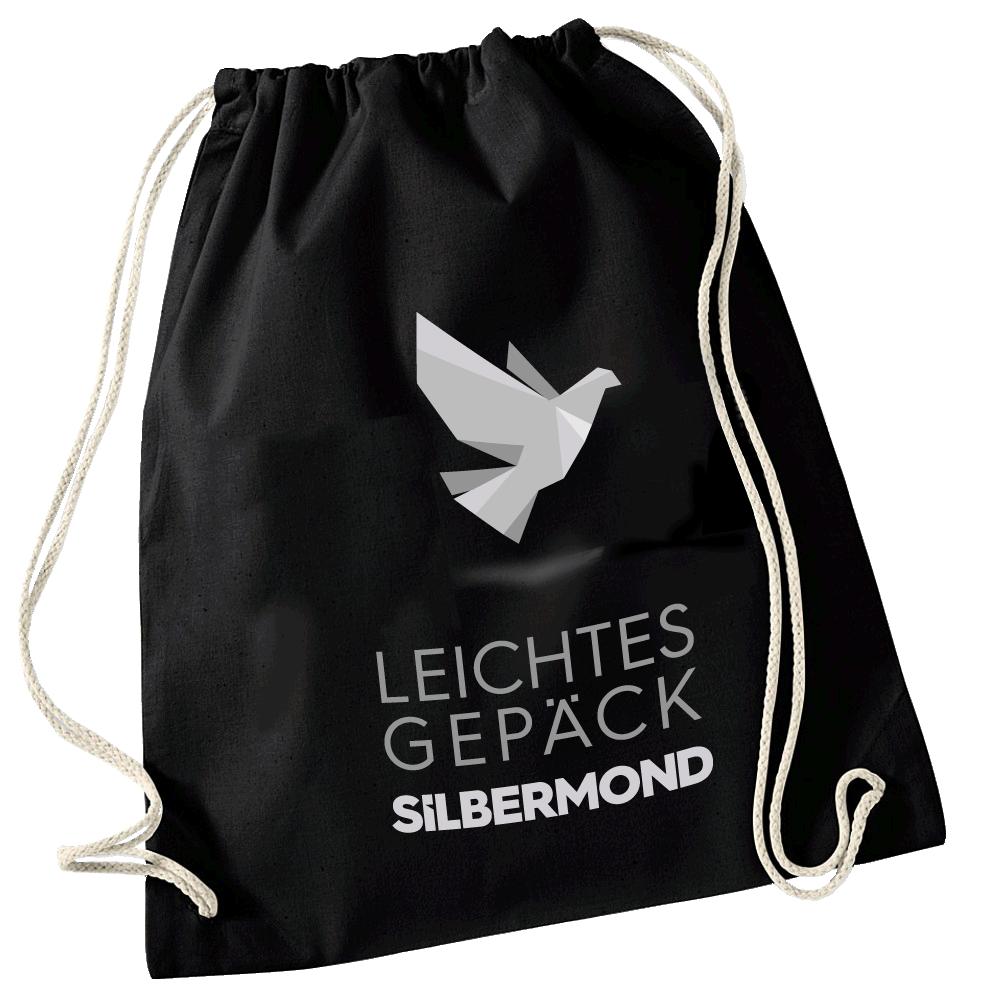Silbermond Leichtes Gepäck Turnbeutel Bag schwarz