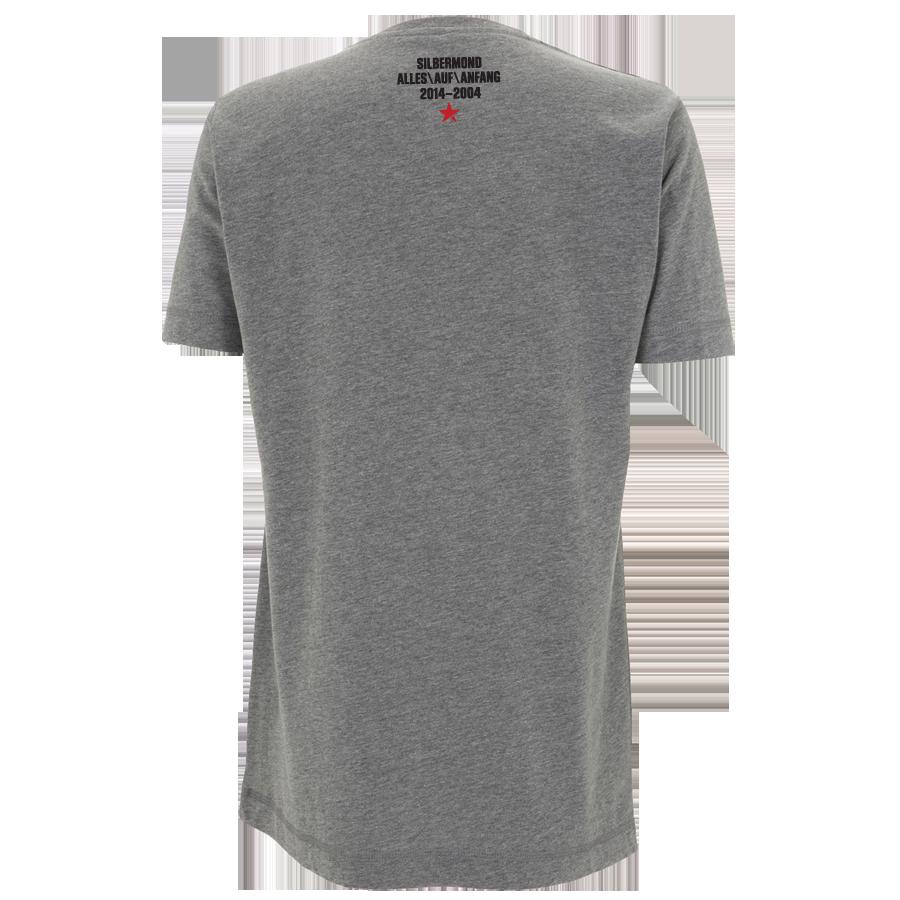 Silbermond Rewind Button unisex T-Shirt melange grey