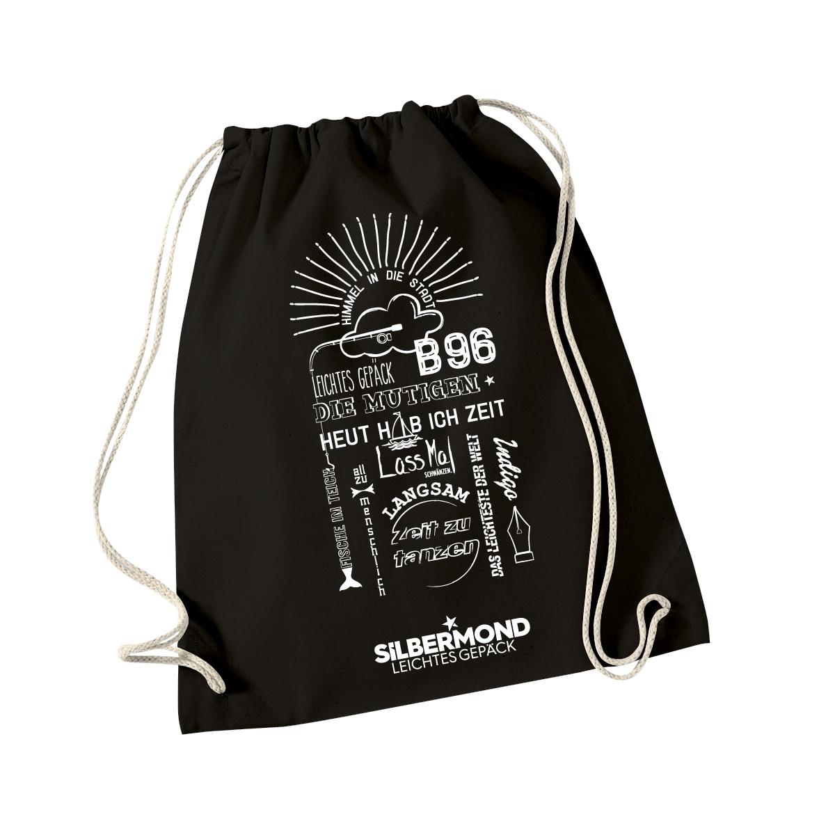 Silbermond Tracklist Gymbag Tasche Schwarz