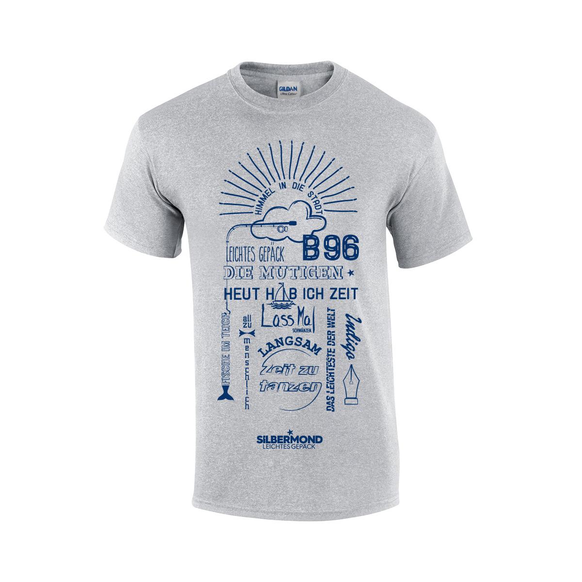 Silbermond Tracklist Unisex T-Shirt T-Shirt Grau