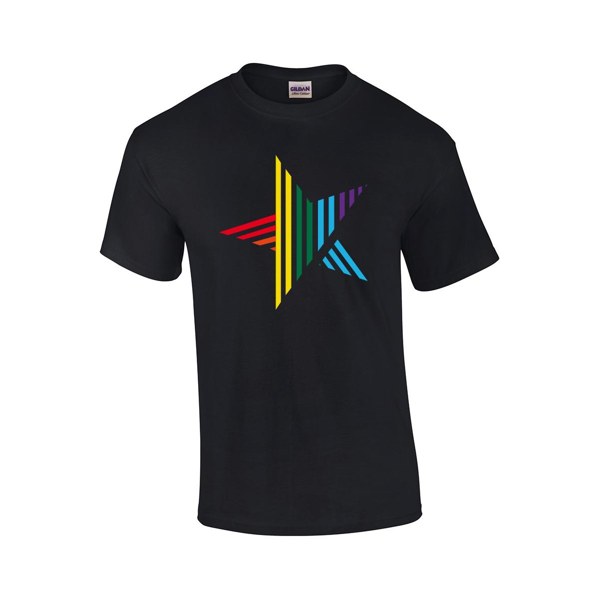 Silbermond Star Unisex T-Shirt T-Shirt Schwarz