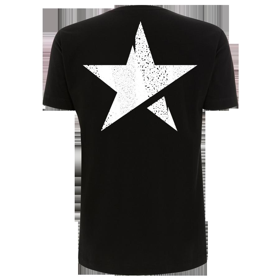 Silbermond Stern Shirt unisex T-Shirt schwarz