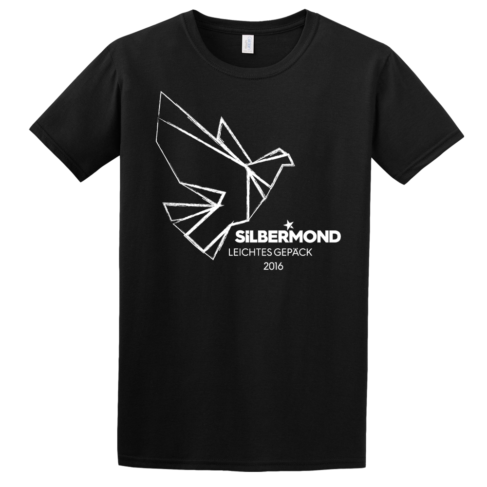 Silbermond Taube unisex Shirt T-Shirt schwarz