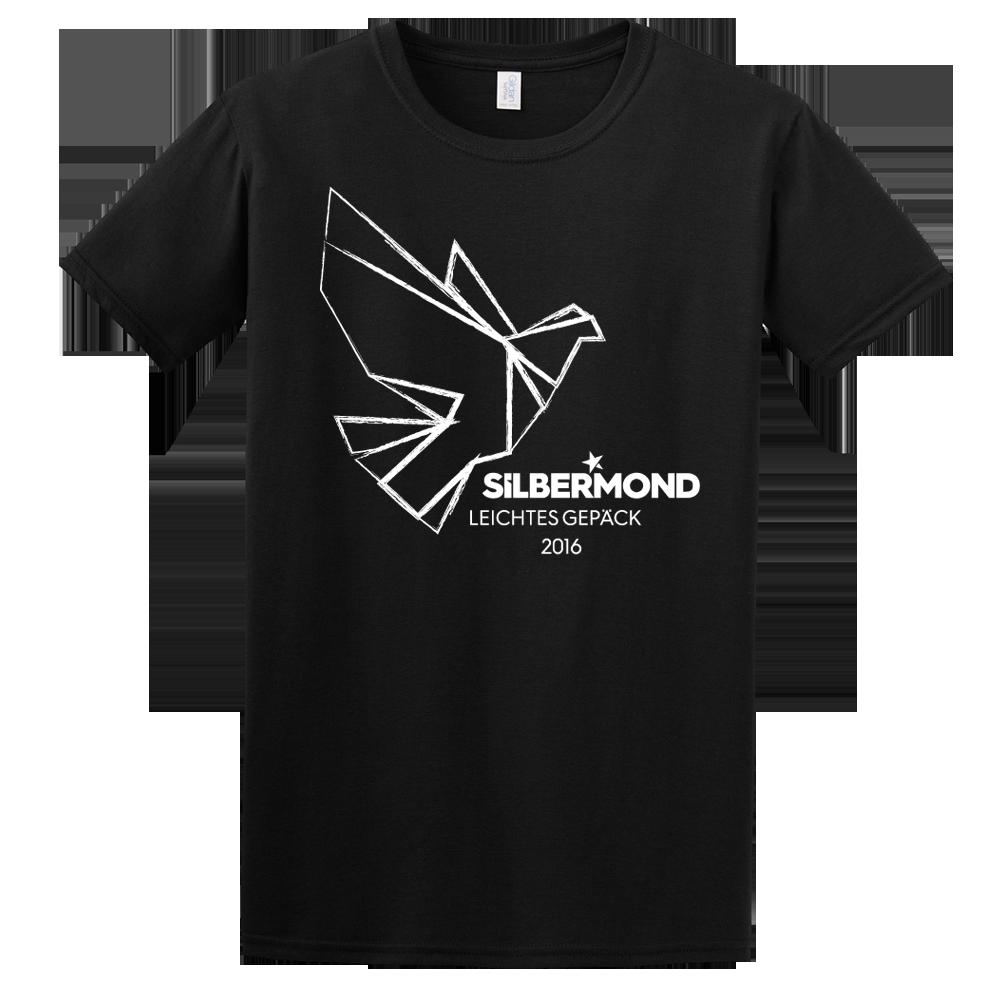 Silbermond Taube Boy Shirt T-Shirt schwarz