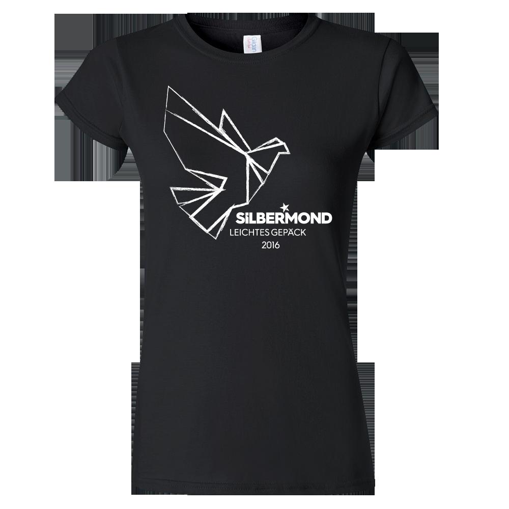 Silbermond Taube Girl Shirt Girlie schwarz