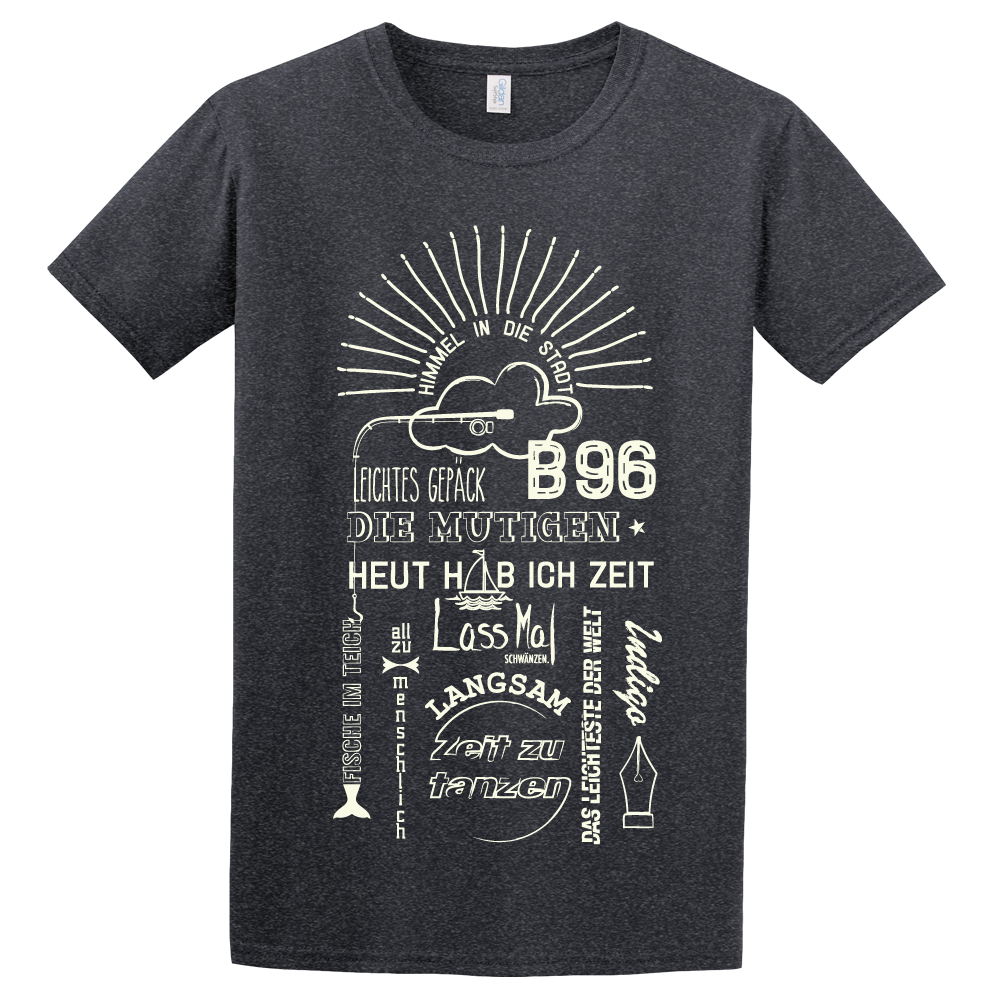 Silbermond Tracklist unisex Shirt T-Shirt dunkelgrau meliert