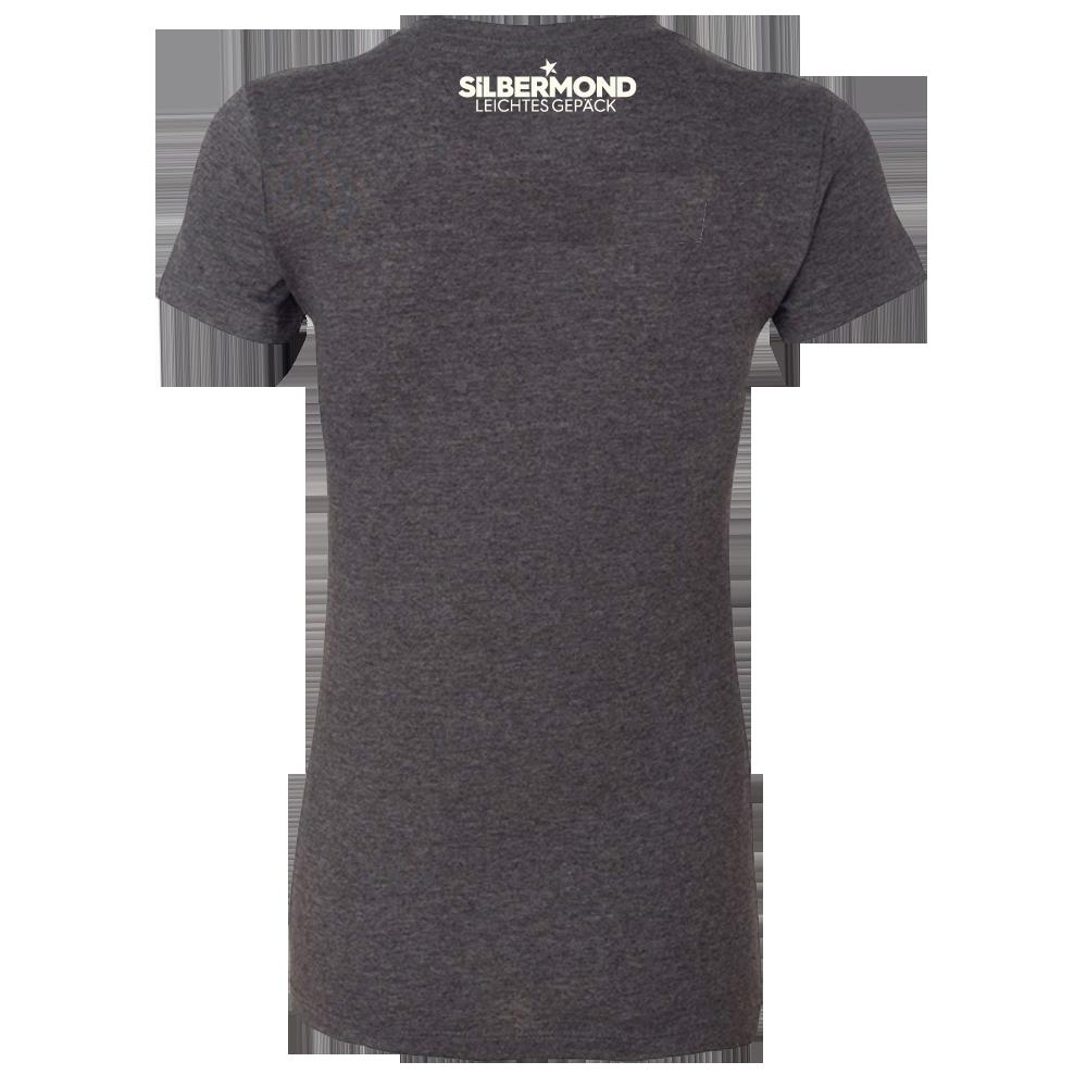 Silbermond Tracklist Girl Shirt Girlie dunkelgrau meliert
