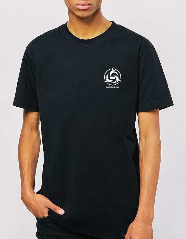 100BLACKDOLPHINS 100BD Logo Tee T-Shirt Black