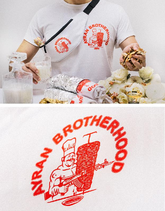 100BLACKDOLPHINS Ayran Brotherhood Tee x Willy T-Shirt White