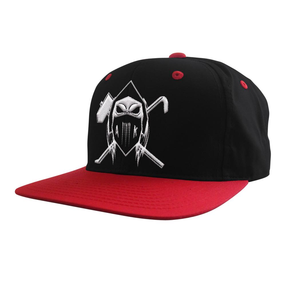 AK Ausserkontrolle Cap Cap One Size Fits All, schwarz - rot